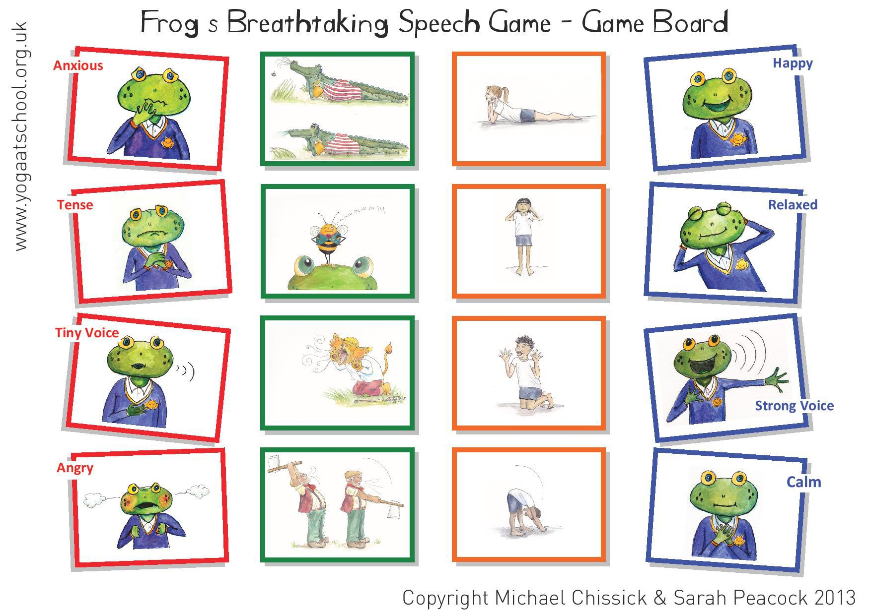 Frog's Breathtaking Speech Board Game
