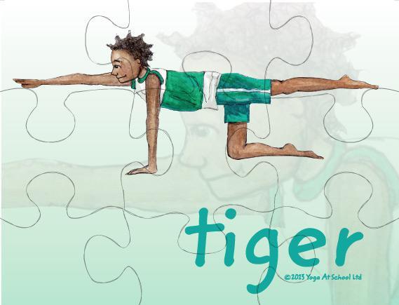 Yoga Jigsaws<br />Challenging Postures  Set H